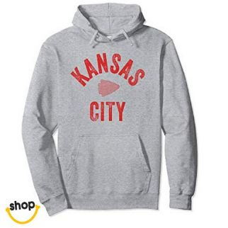 Kansas City Hooded pullover sweatshirt clothing for Females' in red/yellow/white