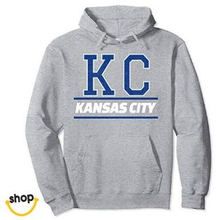 Woman's KC hoodie hoodie sweatshirt apparel for Her – color: royal blue / white