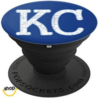 Royal Blue Kansas City phone graphic is a great KC gift for Kansas citians or a Kansas City birthday gift for a KC girlfriend or daughters to talk around in at kansas baseball and Kc football games around Kansas City | Choose this unique KC blue cell gear
