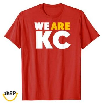 Kansas City Tshirt for lady, schoolgirls, young ladies or teen in red/yellow