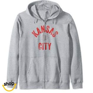 Womens Kansas City Pullover hoodie sweatshirts apparel for Girls'–Color: Red
