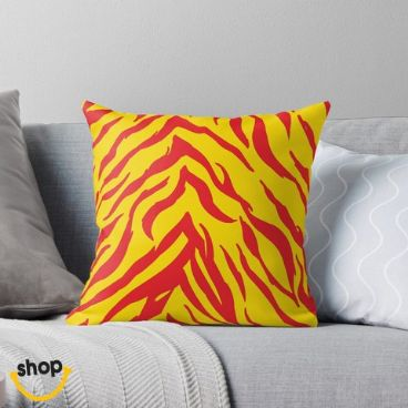 KC Zebra Stripes couch cushion bolster