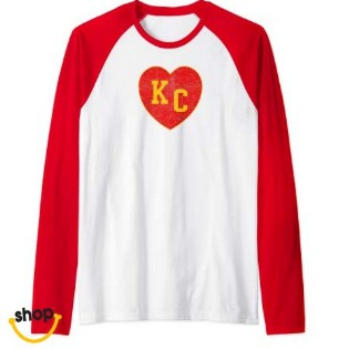 Womens Kansas City Longsleeve Tee apparel for Girls'–Color: Red