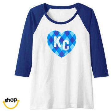 Kansas city longsleeves Tee clothes for females' gift in royal blue / gold / white